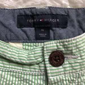 NWT Tommy Hilfiger Boys Motorcycle Print Striped Shorts 6